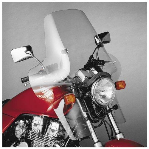 National Cycle Plexifairing Three Windshield For Honda CB1000 1994-1995  CB600F 2004  VT1100C Shadow 1987-1990 and 1992-1994  VT600C Shadow VLX 1988-2007  Honda VT600CD Shadow VLX 1993-2007 - 22 Inches Height x 31-12 Inches Width - N8413-01