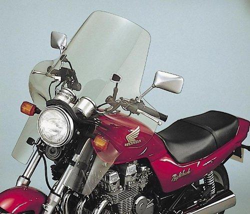 National Cycle Plexifairing Three Windshield For Honda Nighthawk 1983-1985  Magna 1983-1986  Sabre 1982-1985  VT500C Shadow 1983-1984  Kawasaki KZ700A 1984  KZ750L 1983  Yamaha XS400R Seca 1982-1983 - 22 Inches Height x 32-34 Inches Width -