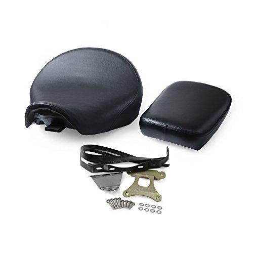 NICECNC Motorcycle Black Front Rear Driver Passenger Seat Cover Bracket Set for Honda Shadow Aero VT750C 2004-2015 VT750CA 2004-2014 VT750CS 2013-2015
