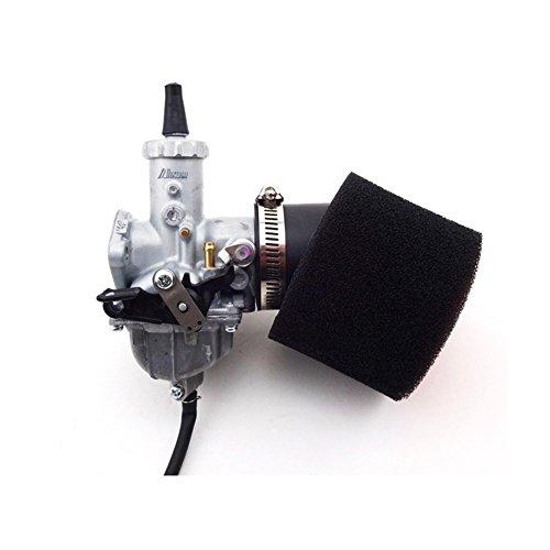 TC-Motor 30mm Mikuni Carburetor VM26 Carb  Black 45mm Air Filter For 140cc 150cc 160cc Engine Pitster Pro SSR Thumpstar Pit Dirt Bike Motocross