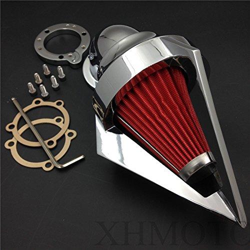 XKH Group Motor Triangle Spike Air Cleaner Filter Kits For Harley S&S Custom Cv Evo Xl Sportster Chrome new