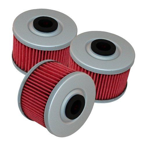 Caltric 3 Pack Oil Filter Fits SUZUKI DRZ110 DR-Z110 DR Z110 2003-2005