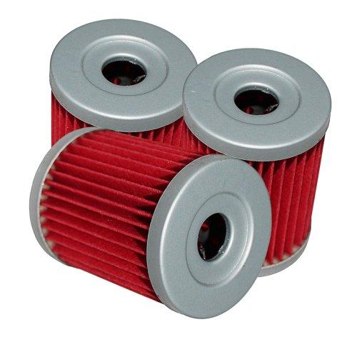 Caltric Oil Filter Fits Fits SUZUKI LT250 LT-250 LT 250 Quadrunner 1997 1998 1999 2000 2001 2002 3-PACK