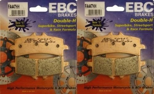 EBC Sintered Double H Front Brake Pads 2 Sets for Both Calipers 2012 2013 Triumph Speed Triple R ABS FA447HH