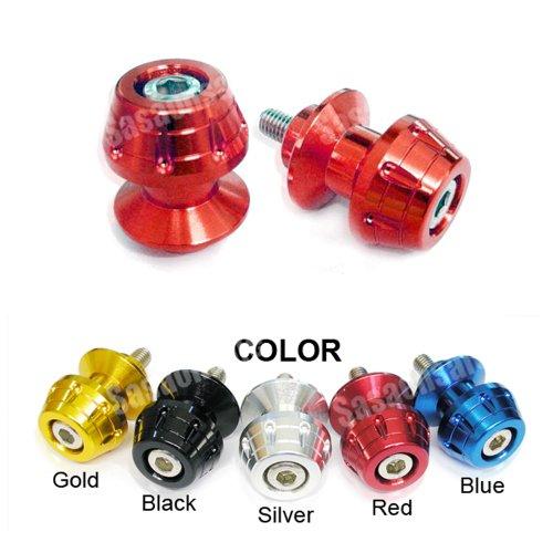 MIT Motors - RED - 6mm Universal Swingarm Spools - Yamaha YZF600 R6 YZF1000 R1 YZF 600 1000 FZ-1 FZ-8 Aprilia RS50 RS125 RS250 Triumph Speed Triple 675 Daytona 675