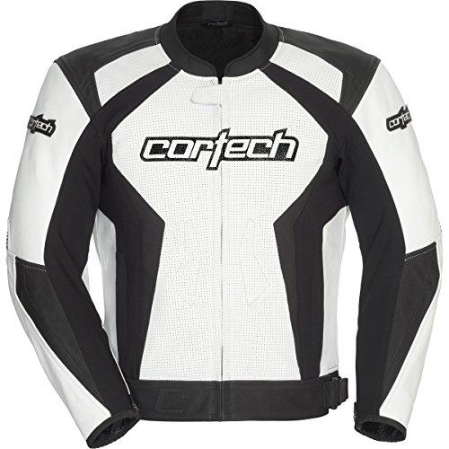 Cortech Latigo 2.0 Men's Leather Street Motorcycle Jacket - White/black / X-large