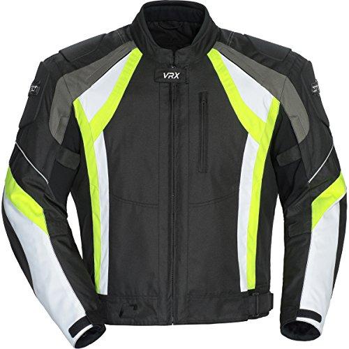 Cortech Vrx Adult Textile Road Race Motorcycle Jacket - Black/hi Viz/white / Medium