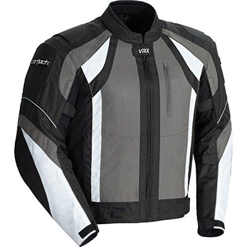 Cortech Vrx Adult Textile Road Race Motorcycle Jacket - Gunmetal/black/white / Large