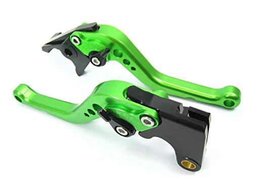 Emotion Performance-STD-Short-Series Motorcycle Clutch Brake Lever Set for Ducati GT 1000 2006-2010 - Black  Kiwi Green AdjusterLever