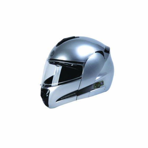 Torc T22b Interstate Modular Helmet With Blinc 2.0 Stereo Bluetooth Technology (silver, Medium)