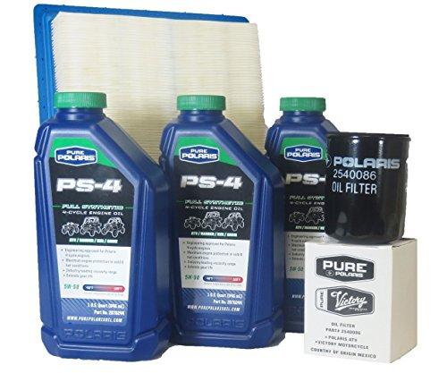 2014-2015 Ranger 900 Crew All Options Genuine Polaris Oil Change and Air Filter Kit