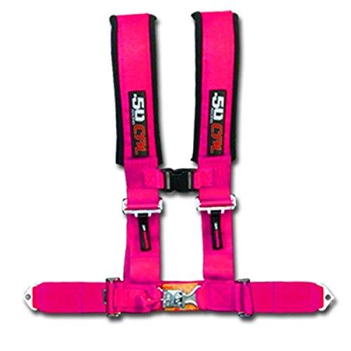 Pink 50 Caliber Racing 4 Point 2 Safety Race Harness Polaris UTV RZR XP1000 XP900 900 800 570 6008-A2