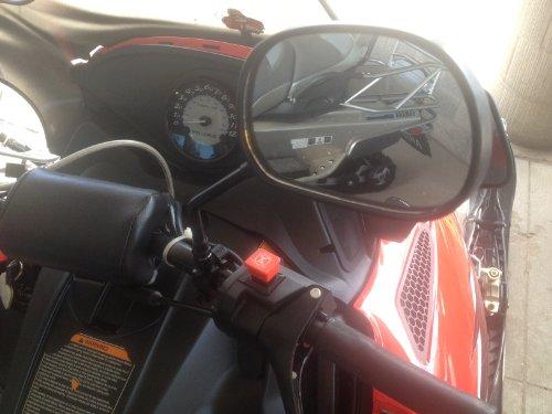 Rear View Mirror Set Fits Polaris Snowmobile