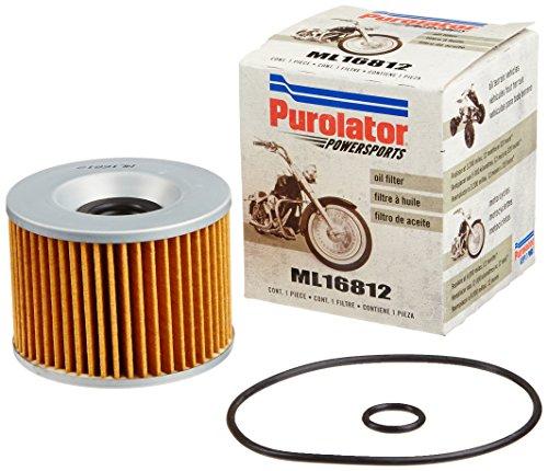 Purolator ML16812 Black Motorcycle Oil Filter Pack of 1