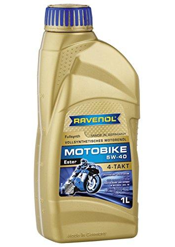 RAVENOL J1V1001 SAE 5W-40 4-Stroke Motorcycle Oil - 4-T Full Synthetic Ester JASO MAMA2 1 Liter