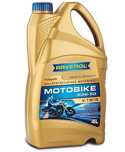 RAVENOL J1V1021 SAE 20W-50 V-Twin Motorcycle Oil - Full Synthetic 4 Liter