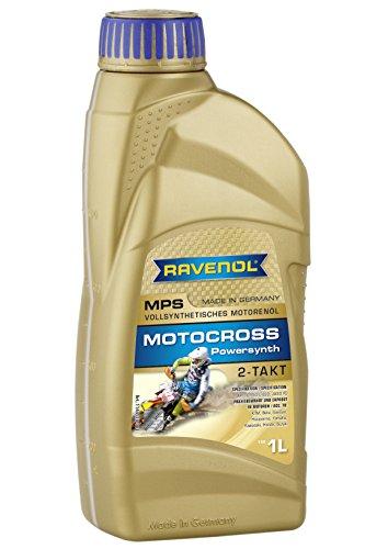 RAVENOL J1V1100 2-Stroke Motorcycle Oil - MPS Motocross Powersynth Full Synthetic API TC 1 Liter