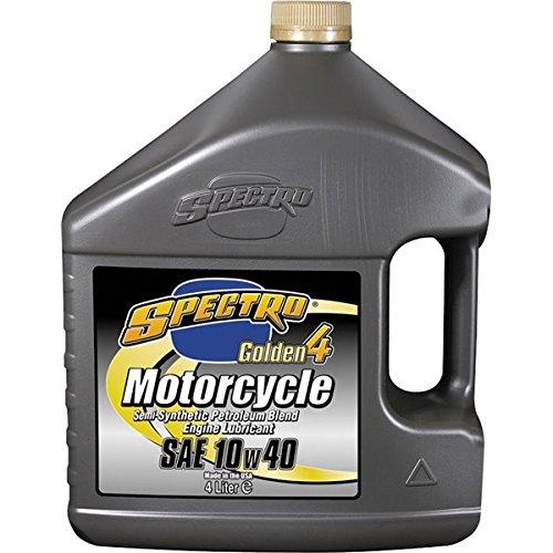 Sz 1 Gallon Spectro Golden 4 10W40 Synthetic Petroleum Oil Motorcycle OilsChemicals