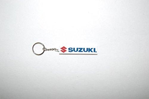 Suzuki Motorcycles Keychain Key Chain Keyfob White Blue Red 5 990A0-19111