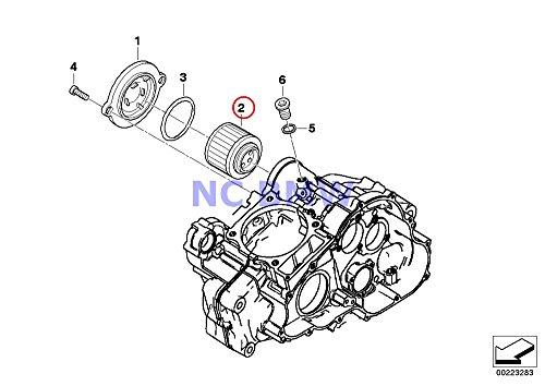 BMW Genuine Motorcycle Oil Filter Oil Filter Insert F650 F650ST F650CS G650 Xchallenge G650 Xcountry G650 Xmoto F650GS F650GS Dakar G650GS G650GS Sertao