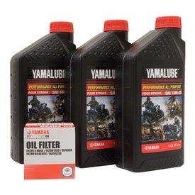 Yamalube Oil Change Kit 10W-40 for Yamaha KODIAK 400 4x4 Auto 2000-2006