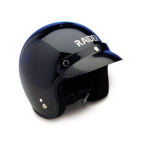 Raider Open Face Helmet Black Medium