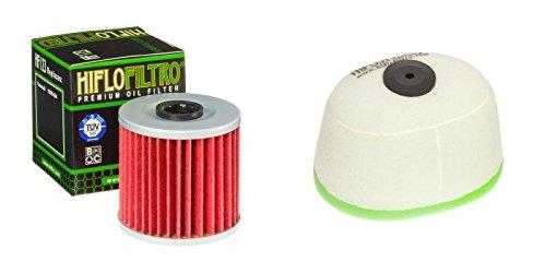 Oil and Dual-Stage Foam Air filter Kit for KAWASAKI KLX650 C1-C5 93-97 HIFLO FILTRO