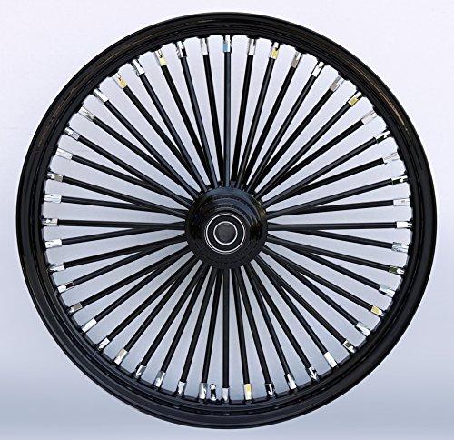 BlackBlack 48 King Spoke 21 x 215 Single Disc Front Wheel  Harley Custom 37-722