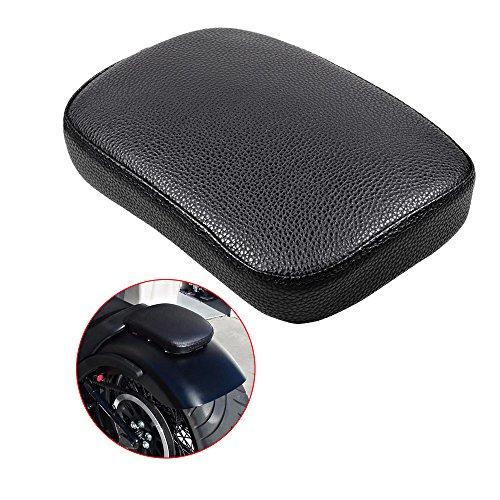Black Rectangular Pillion Passenger Pad Seat 6 Suction Cup For Harley Custom Chopper