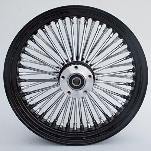 Black and Chrome Ultima King Spoke 16 x 35 Rear Wheel for 2000-2006 Harley and Custom