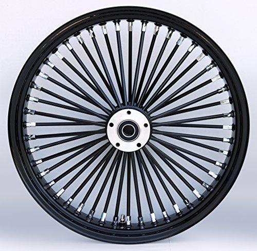 Ultima BlackBlack 48 King Spoke 21 x 35 Dual Disc Front Wheel for Harley and Custom Models 37-724