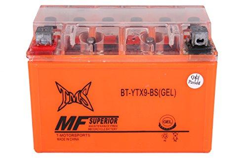 TMS Ytx9l Ytx9-bs Ytx9bs Gtx9-bs Ctx9-bs Utx9 Motorcycle Atv Gel Maintance Free Battery for Honda Fourtrax 300ex 400ex 400 Trx CBR 600 Suzuki Gsxr 600 750 Katana KTM Kawasaki