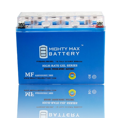 YTX24HL-BS 12V 21AH GEL Battery for SkiDoo Kawasaki Polaris Snowmobile - Mighty Max Battery brand product