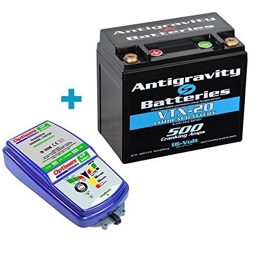 Antigravity Combo VTX-20 Left Neg 16V Lithium Battery  OptiMate TM-271 Charger