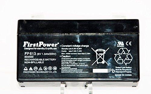 FIRST POWER FP613 6V 13A 20 HR 804500 RECHARGEABLE ALARM SLA BATTERY HONEYWELL
