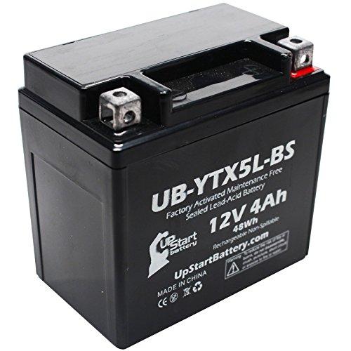 Replacement 1988 Suzuki LT80 QuadSport 80 80CC Factory Activated Maintenance Free ATV Battery - 12V 4Ah UB-YTX5L-BS