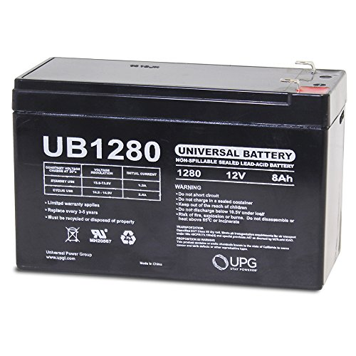12V 8Ah SLA Sealed Lead Acid Battery Universal UB1280 D5743