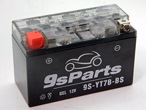 9sparts YT7B-BS Maintenace Free 12V Sealed Gel Battery For 2003-2004 Kawasaki KLX400R KLX400SR 2000-2017 Suzuki DRZ400 E S SM 2006-2010 Triumph Daytona 675 R 1999-2006 Yamaha TTR 250