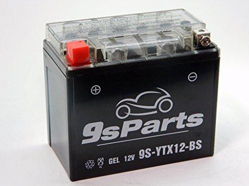 9sparts YTX12-BS Maintenace Free 12V Sealed Gel Battery For 2009-2011 Kymco People 250 Xciting 250i 2010-2016 Piaggio Vespa BV350 LX150 GTS300 GTV300 SP50 Vespa 946 Runner 200 2010-2012 SYM RV250