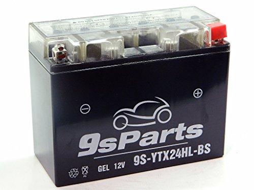 9sparts YTX24HL-BS Maintenace Free 12V Sealed Gel Battery For 1980-1996 Harley Davidson FL FLH 1340 Electra Glide 1975-2000 Honda Gold Wing GL 1000 1100 1200 1500 2002-2003 Indian Chief 1638