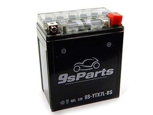 9sparts YTX7L-BS Maintenace Free 12V Sealed Gel Battery For 2011-2013 Honda CBR250R 1996-2016 Honda Rebel 250 CMX250 2015-2016 Honda CBR300F CBR300R 2004-2006 Honda CB600F 599