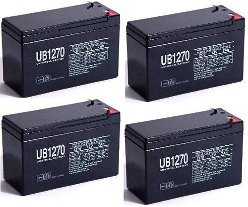 12V 7AH SLA Battery replaces pxl12072 lc-r127r2p1 wp72-12 sh1228w - 4 Pack