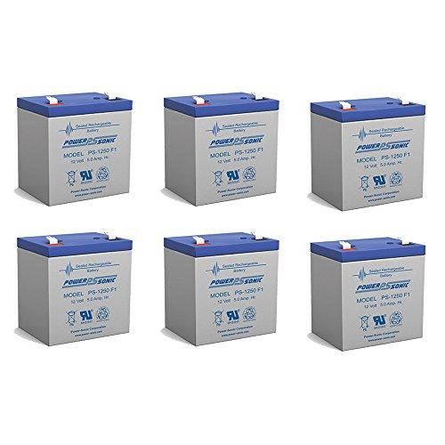 BB Battery 5 AH 12V SLA Battery BP Series - 6 Pack