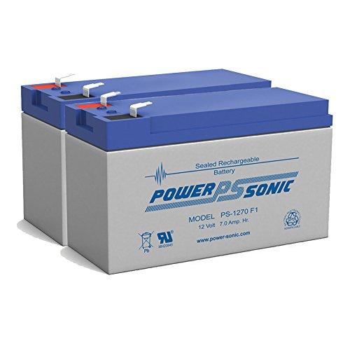 NEW 12V 7AH - 12 Volt SLA Sealed Lead Acid Fish Finder Battery - 2 Pack