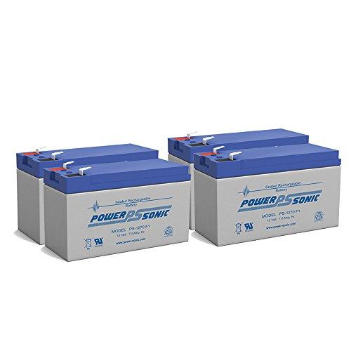 NEW 12V 7AH - 12 Volt SLA Sealed Lead Acid Fish Finder Battery - 4 Pack