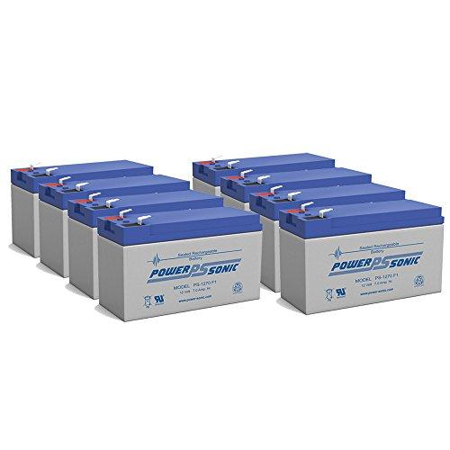 NEW 12V 7AH - 12 Volt SLA Sealed Lead Acid Fish Finder Battery - 8 Pack