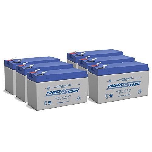 NEW 12V 7AH 75ah 8ah 12 Volt SLA Sealed Lead Acid Fish Finder Battery - 6 Pack