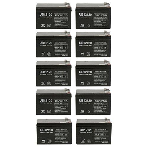 12V 12Ah F2 EAGLE PITCHER CF12V12 Sealed Lead Acid SLA AGM Battery - 10 Pack