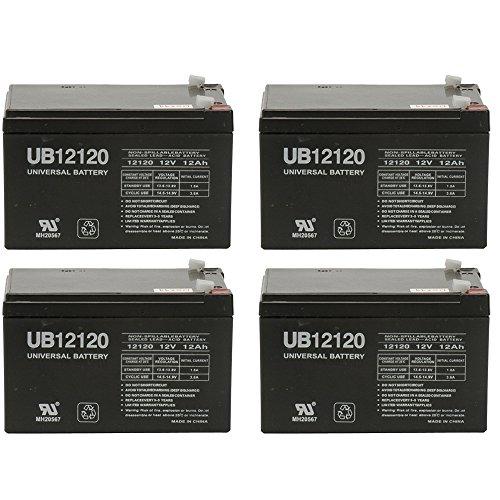 12V 12Ah F2 EAGLE PITCHER CF12V12 Sealed Lead Acid SLA AGM Battery - 4 Pack