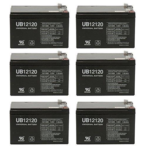 12V 12Ah F2 EAGLE PITCHER CF12V12 Sealed Lead Acid SLA AGM Battery - 6 Pack